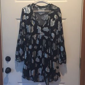 Black and silver Zara dress size small